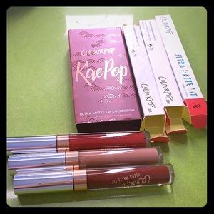 Colourpop KaePop matte lip collection